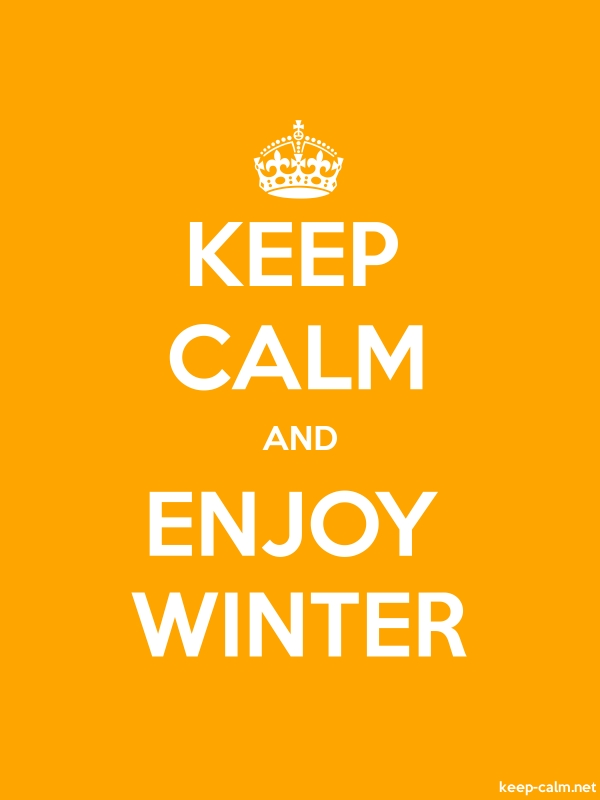 KEEP CALM AND ENJOY WINTER - white/orange - Default (600x800)