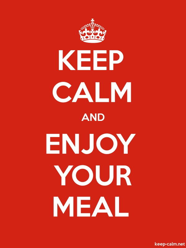 KEEP CALM AND ENJOY YOUR MEAL - white/red - Default (600x800)