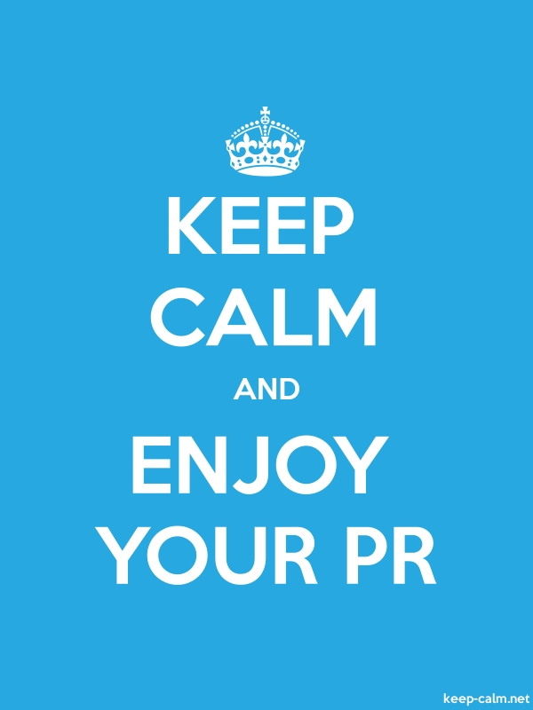 KEEP CALM AND ENJOY YOUR PR - white/blue - Default (600x800)