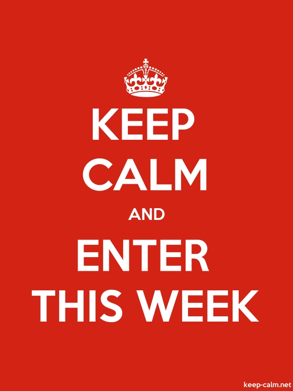 KEEP CALM AND ENTER THIS WEEK - white/red - Default (600x800)