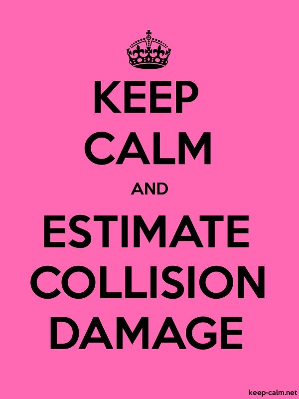 KEEP CALM AND ESTIMATE COLLISION DAMAGE - black/pink - Default (600x800)