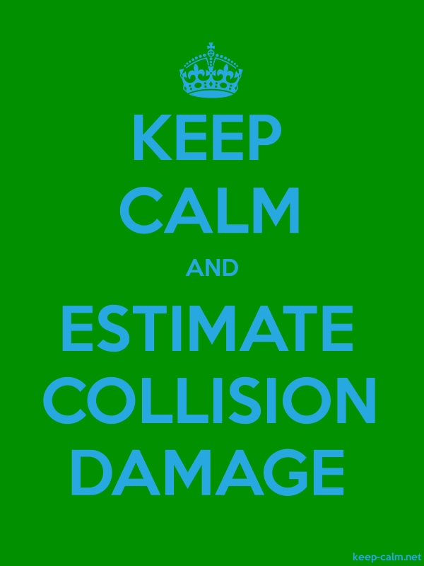 KEEP CALM AND ESTIMATE COLLISION DAMAGE - blue/green - Default (600x800)