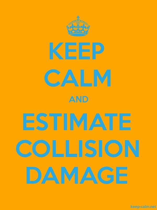 KEEP CALM AND ESTIMATE COLLISION DAMAGE - blue/orange - Default (600x800)