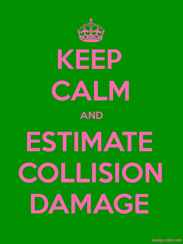 KEEP CALM AND ESTIMATE COLLISION DAMAGE - pink/green - Default (600x800)
