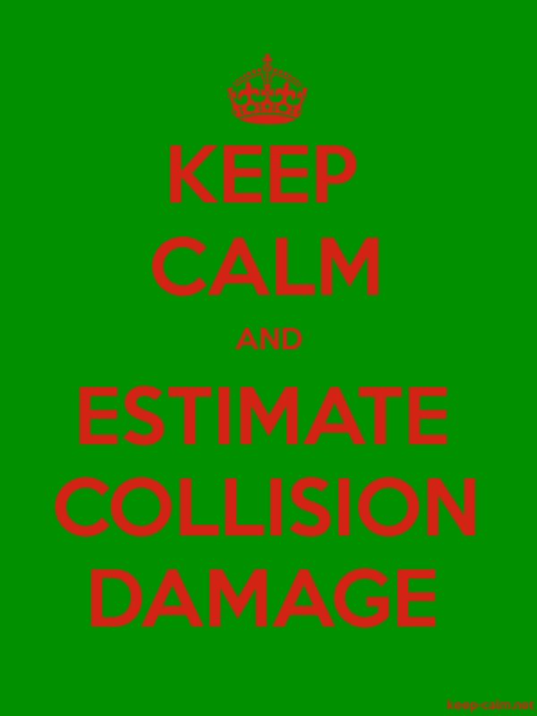 KEEP CALM AND ESTIMATE COLLISION DAMAGE - red/green - Default (600x800)
