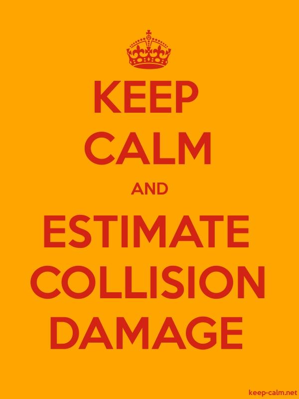 KEEP CALM AND ESTIMATE COLLISION DAMAGE - red/orange - Default (600x800)