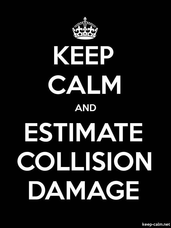 KEEP CALM AND ESTIMATE COLLISION DAMAGE - white/black - Default (600x800)