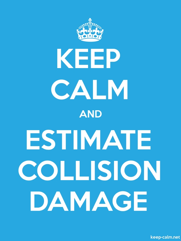 KEEP CALM AND ESTIMATE COLLISION DAMAGE - white/blue - Default (600x800)