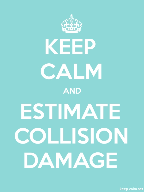 KEEP CALM AND ESTIMATE COLLISION DAMAGE - white/lightblue - Default (600x800)