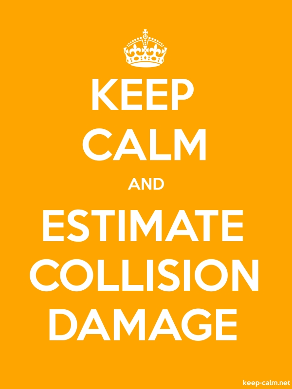 KEEP CALM AND ESTIMATE COLLISION DAMAGE - white/orange - Default (600x800)
