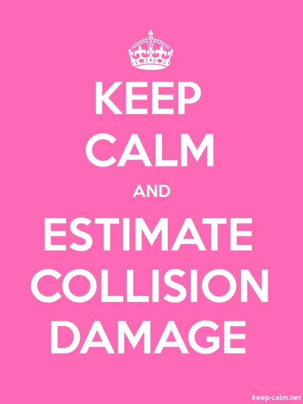 KEEP CALM AND ESTIMATE COLLISION DAMAGE - white/pink - Default (600x800)