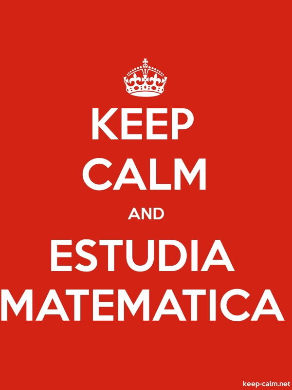 KEEP CALM AND ESTUDIA MATEMATICA - white/red - Default (600x800)
