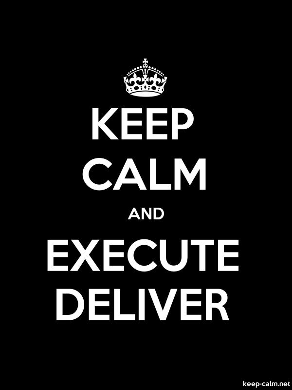 KEEP CALM AND EXECUTE DELIVER - white/black - Default (600x800)