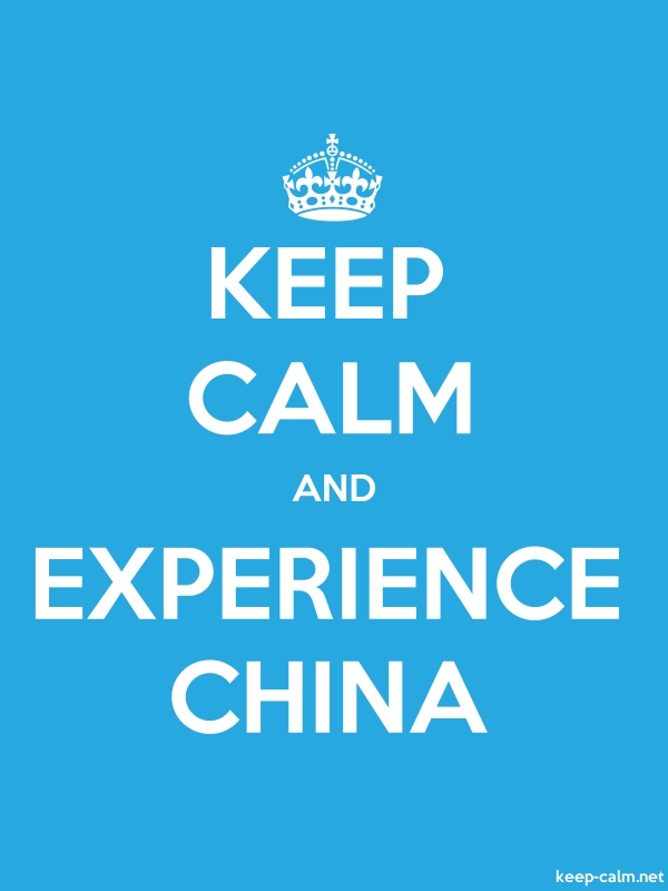 KEEP CALM AND EXPERIENCE CHINA - white/blue - Default (600x800)