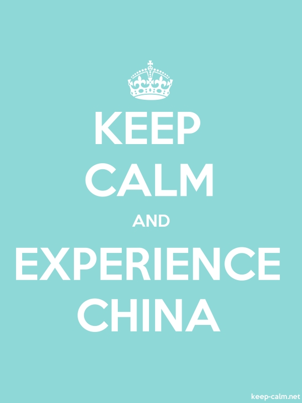 KEEP CALM AND EXPERIENCE CHINA - white/lightblue - Default (600x800)