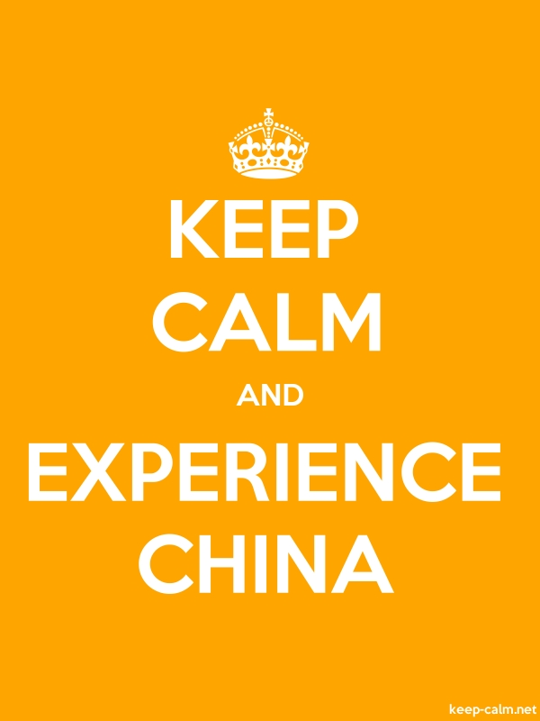 KEEP CALM AND EXPERIENCE CHINA - white/orange - Default (600x800)