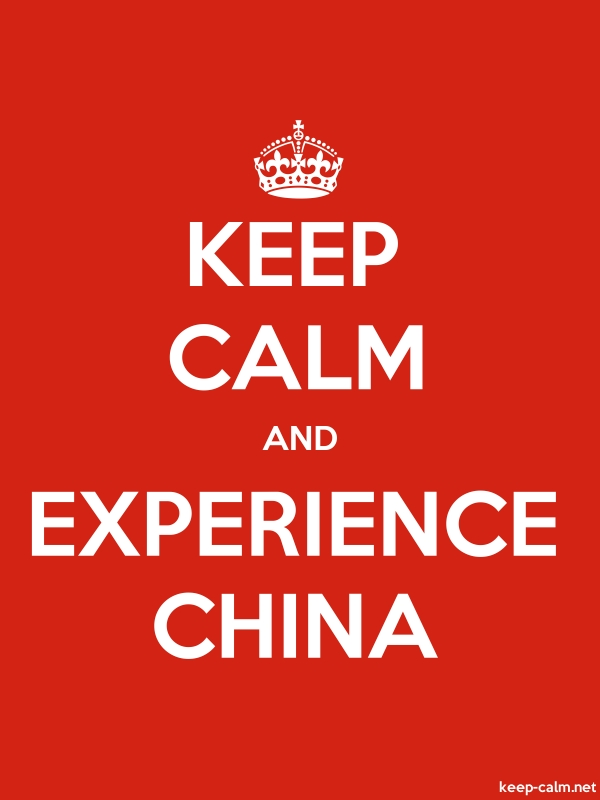 KEEP CALM AND EXPERIENCE CHINA - white/red - Default (600x800)