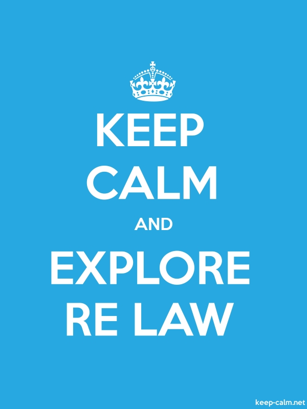 KEEP CALM AND EXPLORE RE LAW - white/blue - Default (600x800)