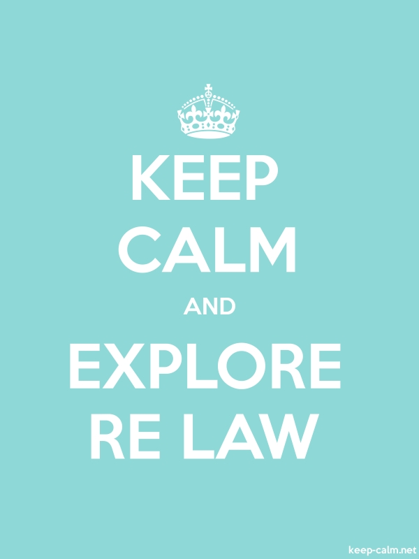 KEEP CALM AND EXPLORE RE LAW - white/lightblue - Default (600x800)