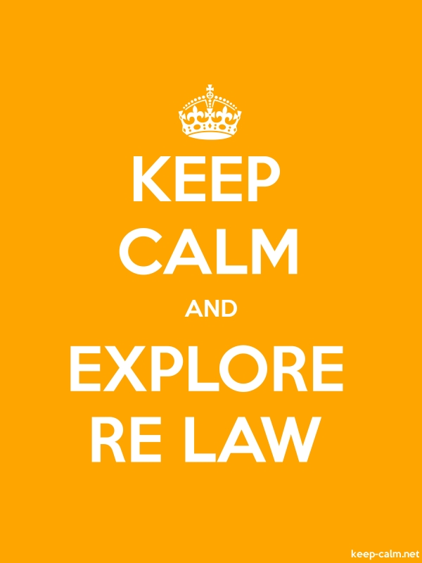 KEEP CALM AND EXPLORE RE LAW - white/orange - Default (600x800)