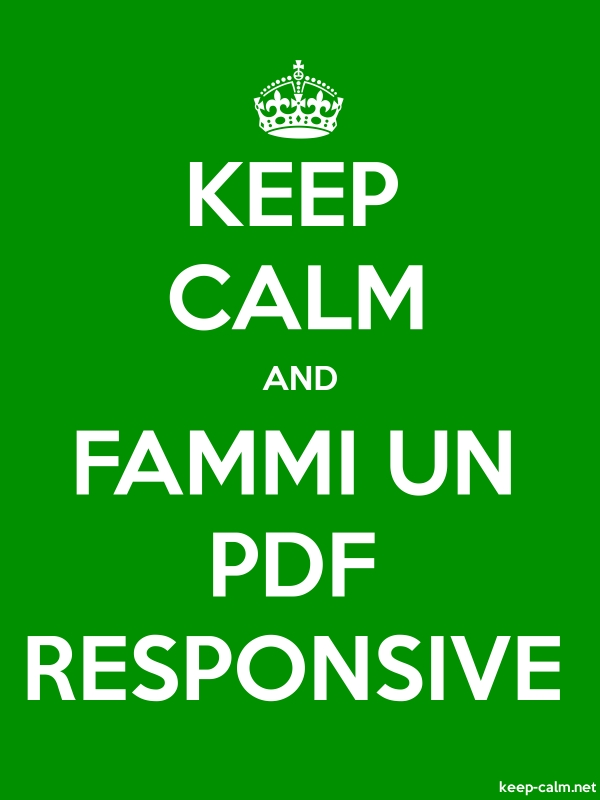 KEEP CALM AND FAMMI UN PDF RESPONSIVE - white/green - Default (600x800)