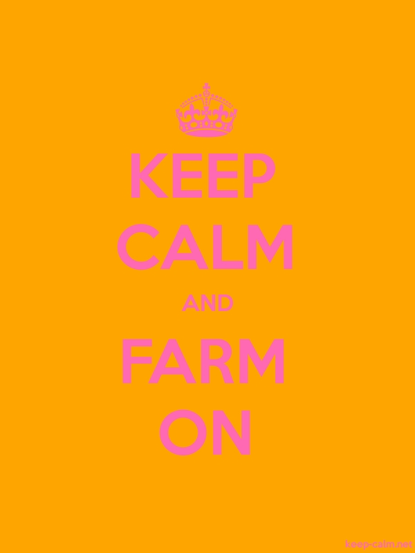 KEEP CALM AND FARM ON - pink/orange - Default (600x800)