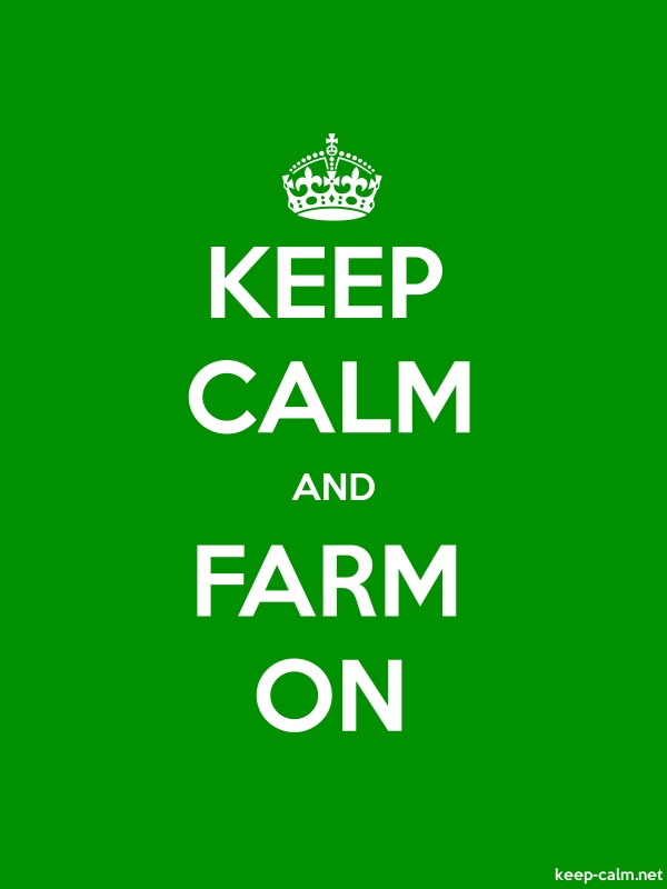 KEEP CALM AND FARM ON - white/green - Default (600x800)