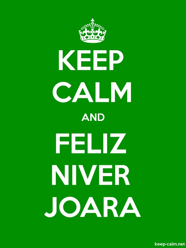 KEEP CALM AND FELIZ NIVER JOARA - white/green - Default (600x800)