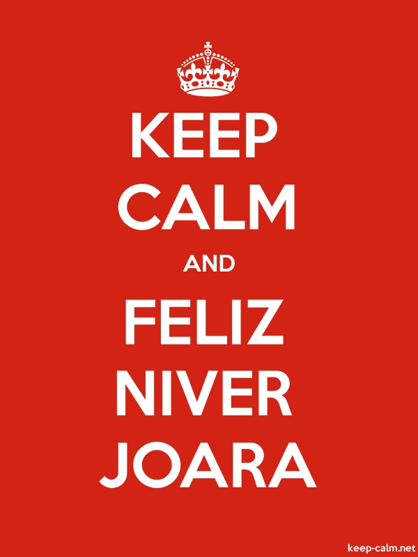 KEEP CALM AND FELIZ NIVER JOARA - white/red - Default (600x800)