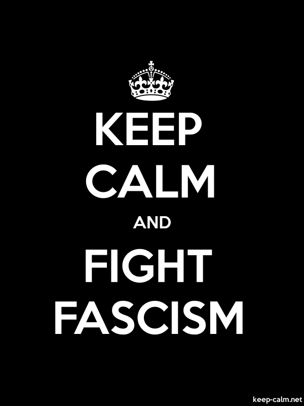 KEEP CALM AND FIGHT FASCISM - white/black - Default (600x800)