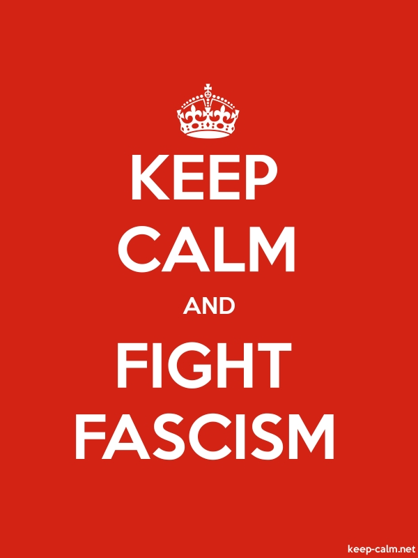 KEEP CALM AND FIGHT FASCISM - white/red - Default (600x800)