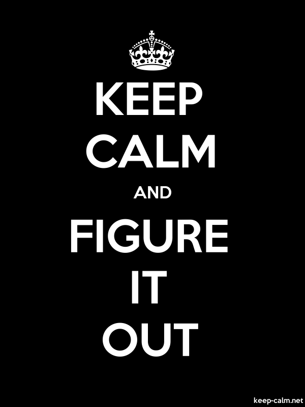 KEEP CALM AND FIGURE IT OUT - white/black - Default (600x800)