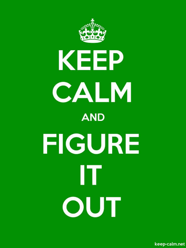 KEEP CALM AND FIGURE IT OUT - white/green - Default (600x800)