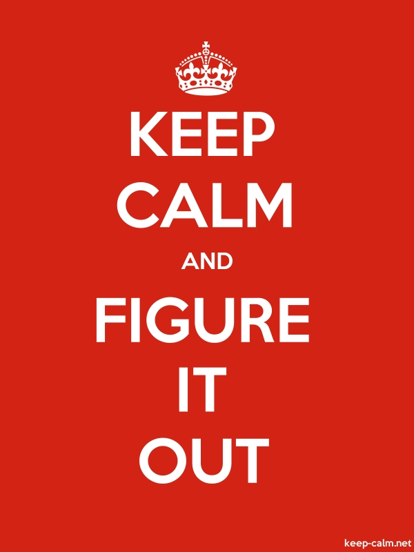 KEEP CALM AND FIGURE IT OUT - white/red - Default (600x800)