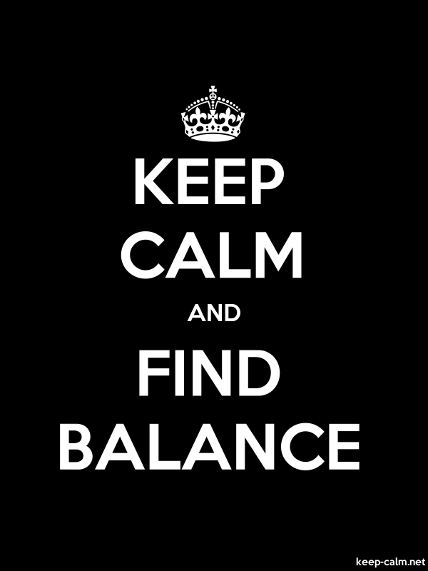 KEEP CALM AND FIND BALANCE - white/black - Default (600x800)