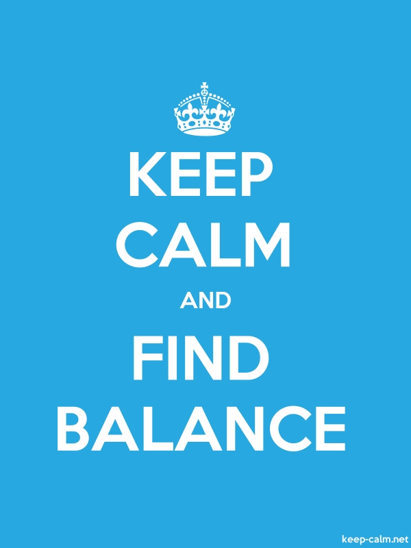 KEEP CALM AND FIND BALANCE - white/blue - Default (600x800)