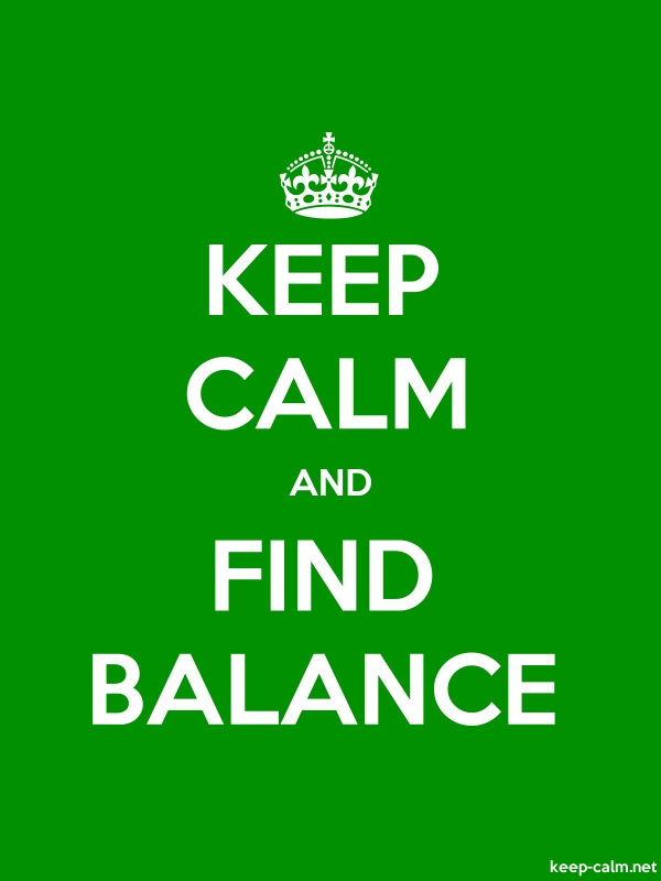 KEEP CALM AND FIND BALANCE - white/green - Default (600x800)