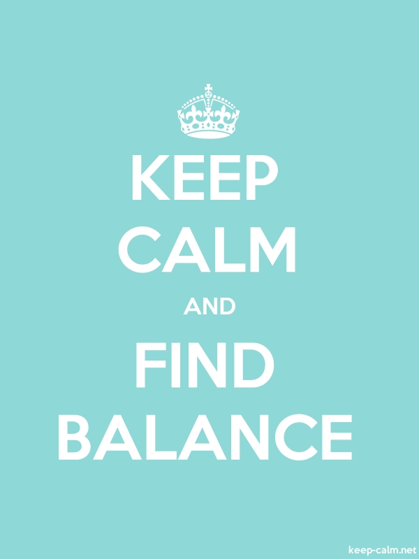 KEEP CALM AND FIND BALANCE - white/lightblue - Default (600x800)