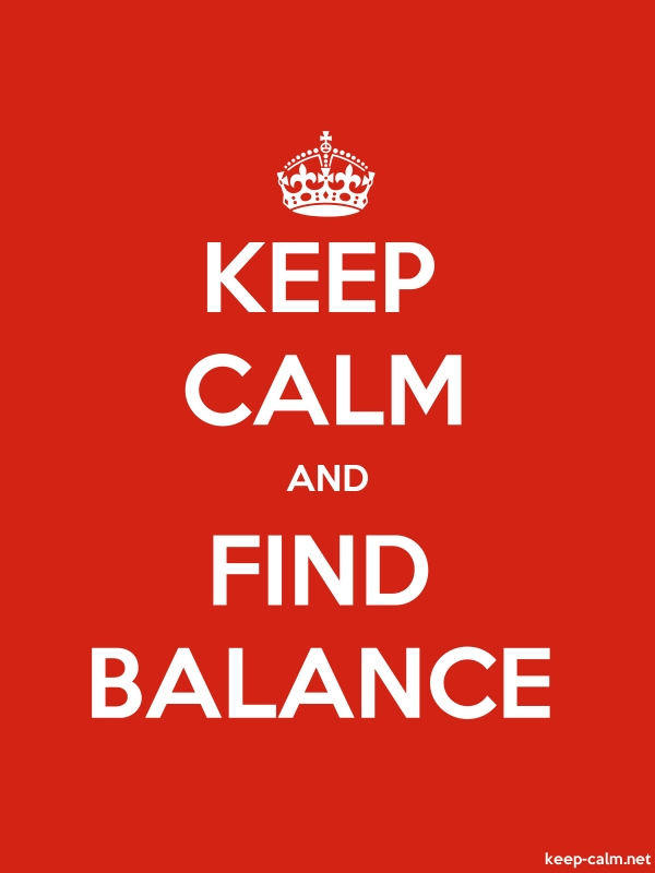 KEEP CALM AND FIND BALANCE - white/red - Default (600x800)