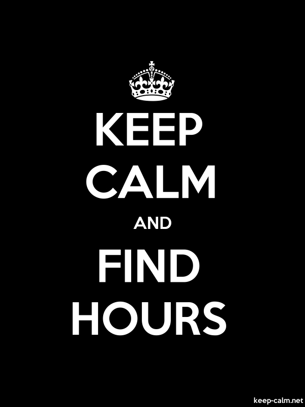 KEEP CALM AND FIND HOURS - white/black - Default (600x800)