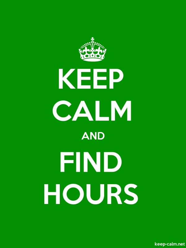 KEEP CALM AND FIND HOURS - white/green - Default (600x800)