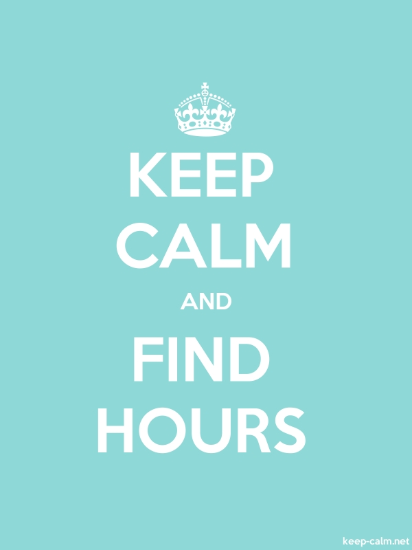 KEEP CALM AND FIND HOURS - white/lightblue - Default (600x800)