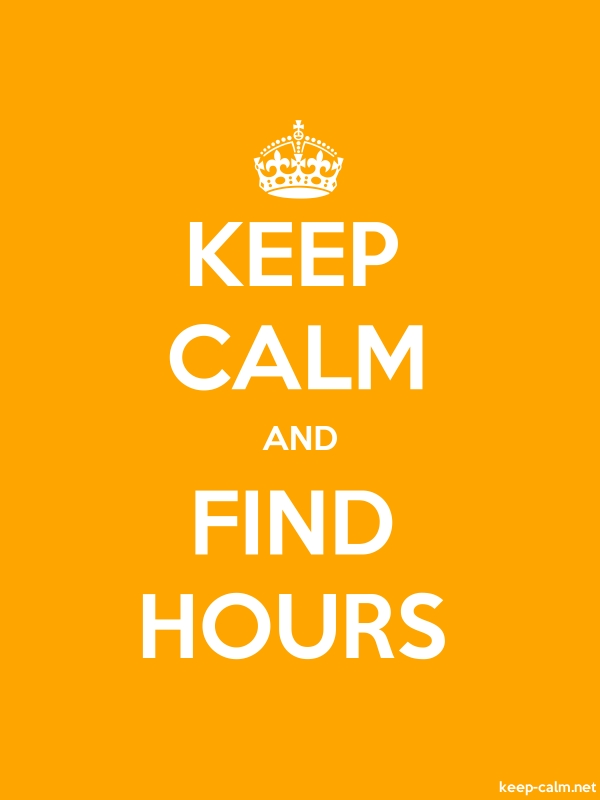 KEEP CALM AND FIND HOURS - white/orange - Default (600x800)