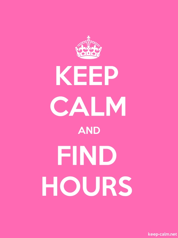 KEEP CALM AND FIND HOURS - white/pink - Default (600x800)