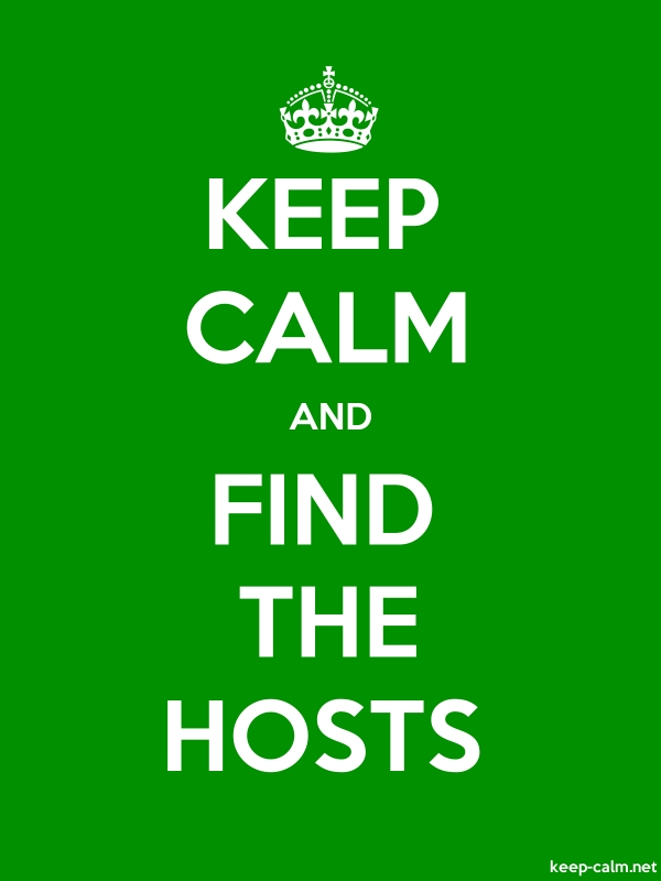 KEEP CALM AND FIND THE HOSTS - white/green - Default (600x800)