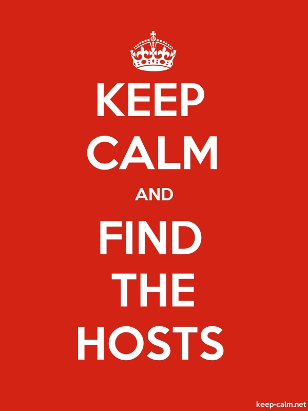 KEEP CALM AND FIND THE HOSTS - white/red - Default (600x800)