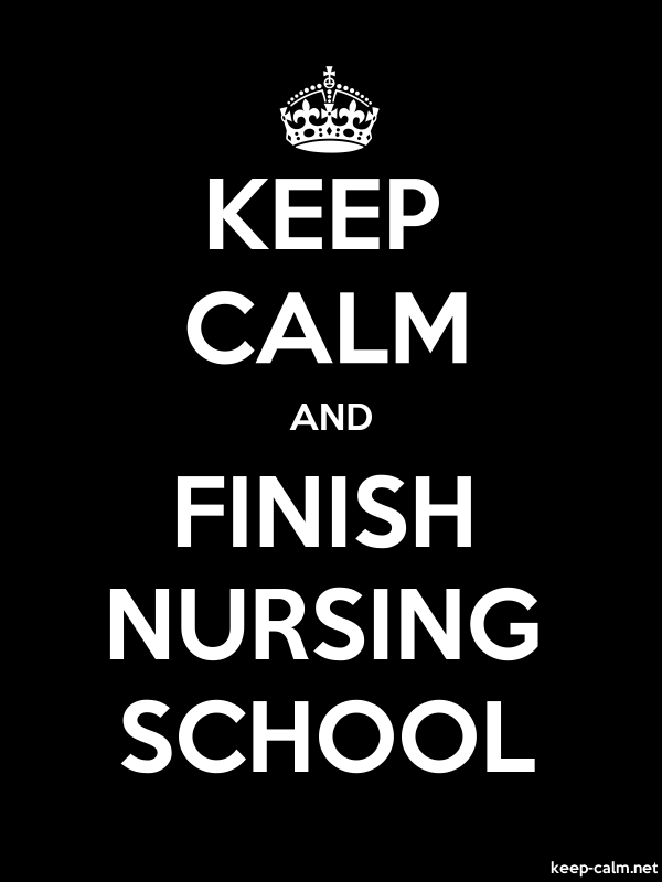 KEEP CALM AND FINISH NURSING SCHOOL - white/black - Default (600x800)