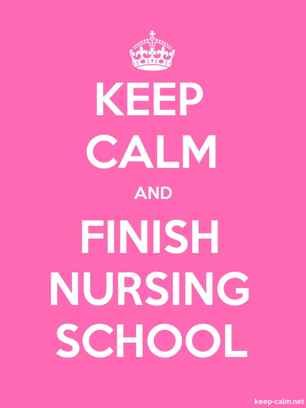 KEEP CALM AND FINISH NURSING SCHOOL - white/pink - Default (600x800)