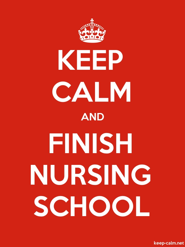 KEEP CALM AND FINISH NURSING SCHOOL - white/red - Default (600x800)