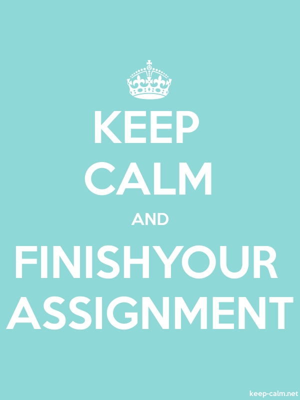 KEEP CALM AND FINISHYOUR ASSIGNMENT - white/lightblue - Default (600x800)